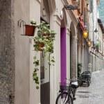 Bicycle on street of italian city — Stock Photo #70742395