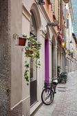 Bicycle on street of italian city — Stock Photo