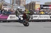 Autofestival 2014, prestazioni del motociclista. — Foto Stock