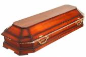 Coffin on the white background — Stock Photo