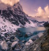 Sunset in Himalaya mountains — Stock Photo