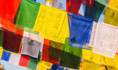 Buddhist  flags with mantras — Stock Photo