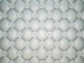White stitched leather pattern — Stock Photo