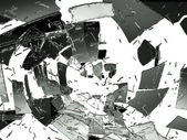 Glass destruction — Stock Photo
