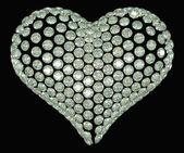 Kalp şekli elmas — Stok fotoğraf