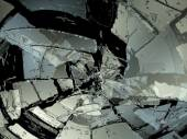 Demolished or Shattered glass — Stock Photo