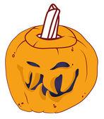 Malicious Halloween pumpkin — Stock Photo