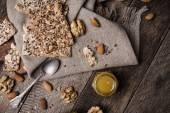 Nuts, cookies with seeds and honey — Photo