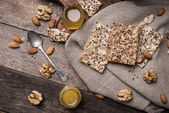 Cookies with seeds, nuts and honey — Photo