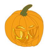 Malicious Halloween pumpkin smiling — Stock Photo