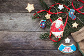 New Year 2015 sheep cookie — Стоковое фото