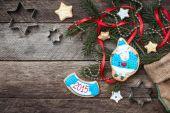 New Year 2015 sheep cookie — Stockfoto