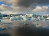 Storm over Jokulsarlon — Stock Photo
