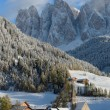 Dolomites village in winter — Stock Photo #57592871
