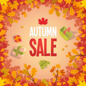 Autumn sale advertising poster — Vettoriale Stock