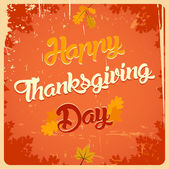 Happy Thanksgiving day vintage poster — Stock Vector