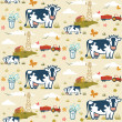 Farm cows seamless pattern — Stock Vector #52847633