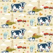 Farm cows seamless pattern — Stock Vector