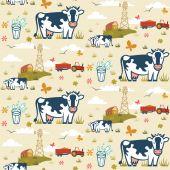 Farm cows seamless pattern — Stock Vector