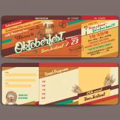 Oktoberfest vintage invitation card — Stock Vector