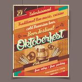 Oktoberfest beer festival retro poster — Stockvektor