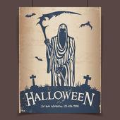 Halloween grim reaper — Stock Vector