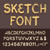 Sketch Alphabet set — Wektor stockowy