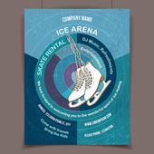 Ice skating rink advertising poster — Stock Vector