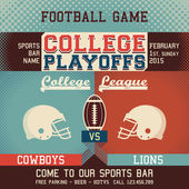 College playoffs football game — Stock Vector