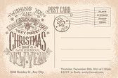 Frohe Weihnachten und Neujahr Urlaub Ansichtskarte — Stockvektor
