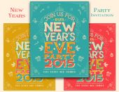New Years Eve party invitation — Stockvektor