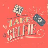 Take a selfie poster — Stockvektor
