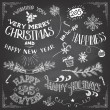Christmas and New Years elements set — Stock Vector #58474187