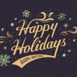 Happy Holidays hand-lettering card — Stock Vector #59100531