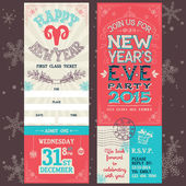 New Year's Eve party invitation ticket — Stock Vector