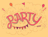 Party hand-lettering invitation card — Wektor stockowy