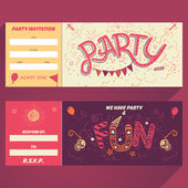 Party hand-lettering invitation ticket — Stock Vector