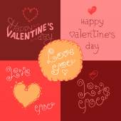 Valentines day hand-lettering labels — Stock Vector