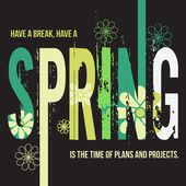 Spring typographic design poster — Stock Vector