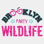Brooklyn wildlife party — Stock Vector