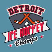 Detroit ice hockey champs — Stock Vector