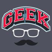 Geek T-shirt Typographic Design — Stock Vector