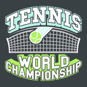 Tennis World Championship — Stock Vector