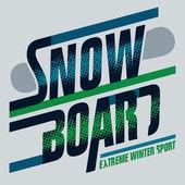 Snowboard t-shirt graphics — Stock Vector