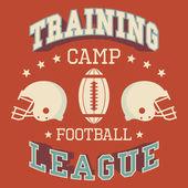 Campo di football americano di formazione — Vettoriale Stock