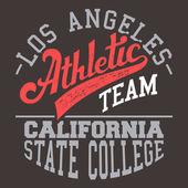 California Athletic Team — Stock Vector