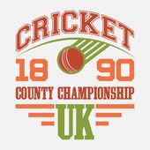 Cricket County Championship t-shirt — Stock Vector