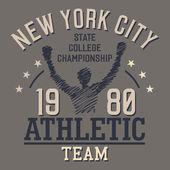 New York Athletic Team — Stock Vector