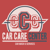 Car Care Center label t-shirt — Stock Vector