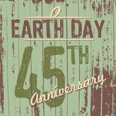 Earth Day's 45th anniversary — Stock Vector